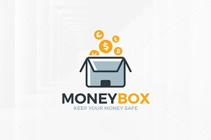 Money Box Logo Template