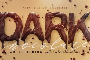 Chocolate - 3D Lettering