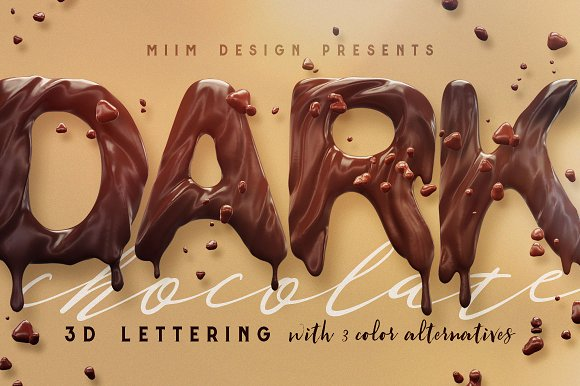 Chocolate 3D Lettering