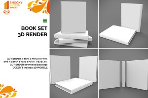 Book Set 3D Render
