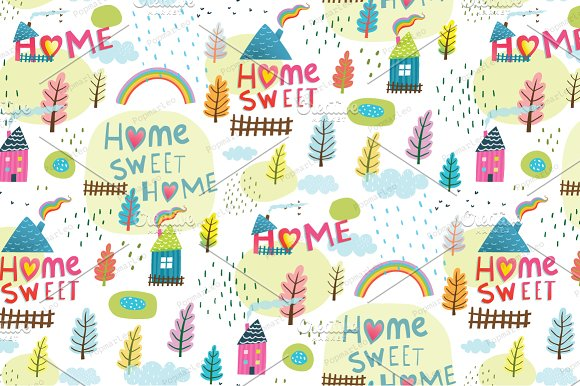 Home Sweet Home Seamless Background
