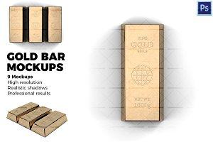 Gold bar  - Mockups