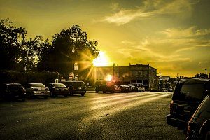 Sun Setting Road