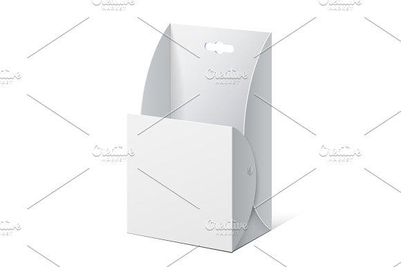 White Cardboard holder for brochures