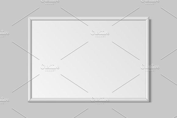 Realistic Horizontal Vertical Frame