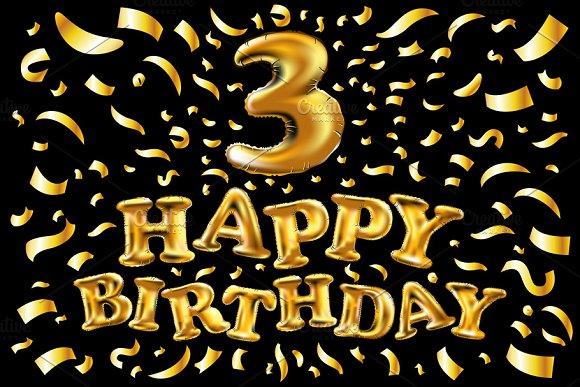 Birthday Balloon Number 3 Three