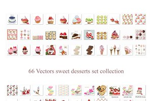 Vector bundle 66 dessert cakes sweet