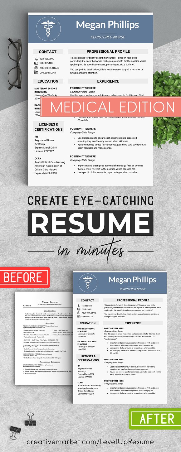 medical resume template resume templates creative market