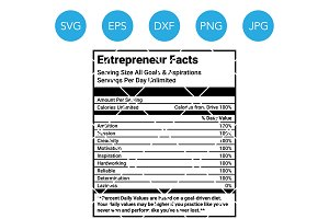 Boss SVG Cutting File Nutrition Fact