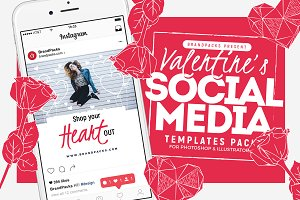 Valentines Social Media Templates 4