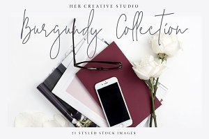 Burgundy Styled Stock Bundle