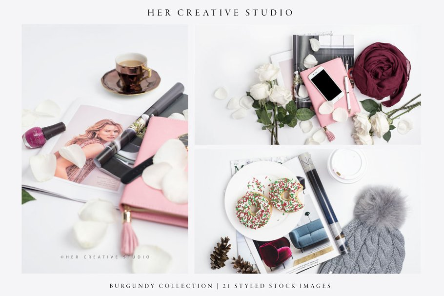 Burgundy Styled Stock Bundle in Templates - product preview 1