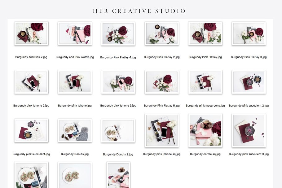 Burgundy Styled Stock Bundle in Templates - product preview 4