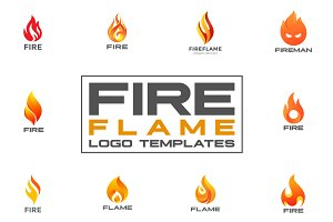 Fire Flame Logo Templates