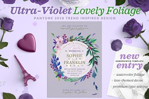 Ultra-Violet Lovely Foliage Invite I