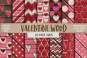 Valentine wood backgrounds