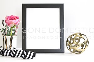 Frame Mock Up - Gold Pink & Black