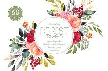Forest Queen watercolor set