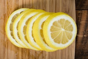 Stack of lemon slices