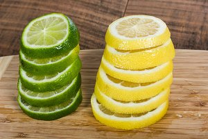 Lemon and lime slices