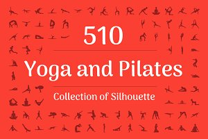 510 Yoga and Pilates Silhouette