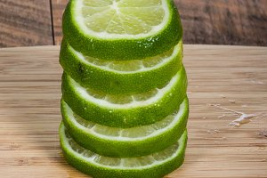 Stack of lime slices