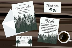 Woods Wedding Invitation set