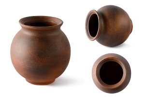 Collection clay pots