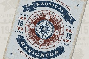 Nautical Navigator Typography
