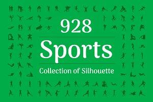 928 Sports Silhouette Vectors