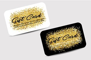 Gift Card with gold glitter
