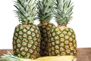 Fresh ripe pineapples
