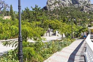 Embankment of the resort village