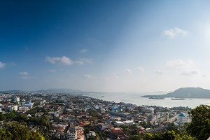 Panorama hight view of Songkhla city
