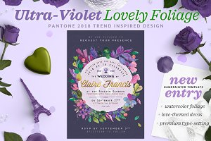Ultra-Violet Lovely Foliage Card II