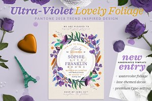 Ultra-Violet Lovely Foliage Card III