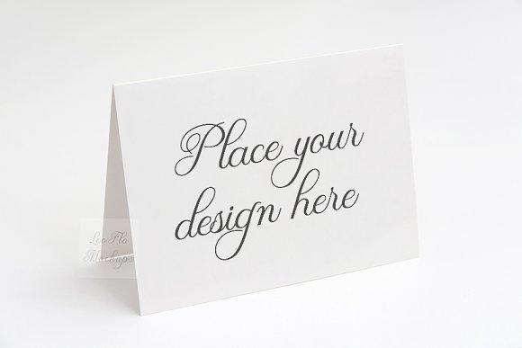 A2 Greeting card mockup invitation