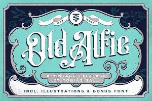 Old Alfie Font + Extras