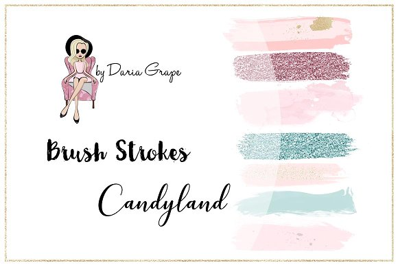 "Brush Strokes ""Candyland"""