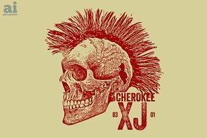 Cherokee XJ Skull