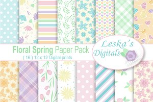 Spring Floral Digital Papers
