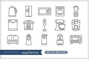 Minimal appliance icons