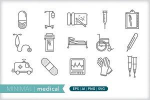 Minimal medical icons