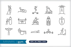 Minimal gym icons