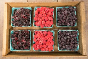 Crate of fresh berries