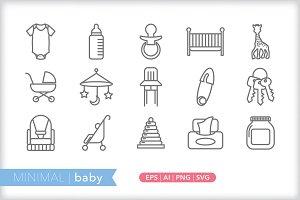 Minimal baby icons