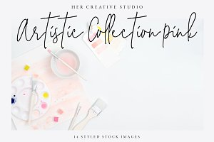 Artistic Stock Image Bundle, Pink