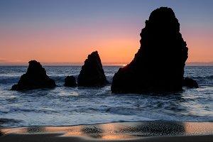 Sea Stacks Sunset at Rodeo Beach