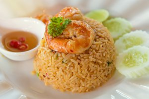 fried rice with spicy Tom Yum Goong