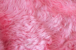 Close up pink fur texture or carpet